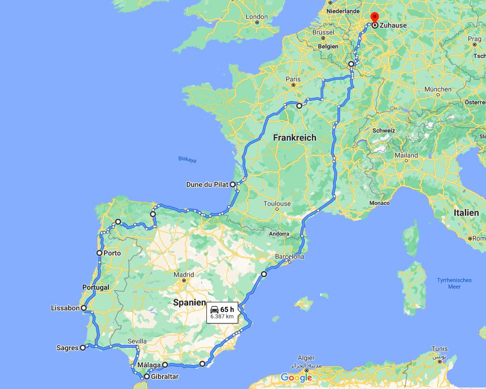 Roadtrip Spanien & portugal